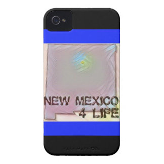 """New Mexico 4 Life"" State Map Pride Design Case-Mate iPhone 4 Cases"