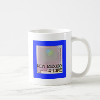 """New Mexico 4 Life"" State Map Pride Design Coffee Mug"