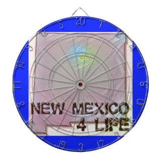 """New Mexico 4 Life"" State Map Pride Design Dartboard"