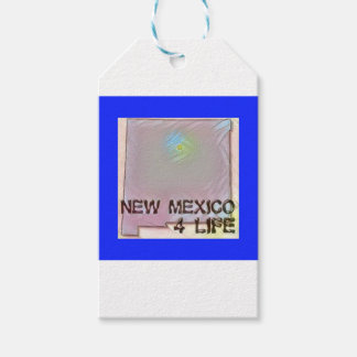 """New Mexico 4 Life"" State Map Pride Design Gift Tags"