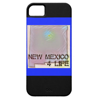 """""""New Mexico 4 Life"""" State Map Pride Design iPhone 5 Covers"""