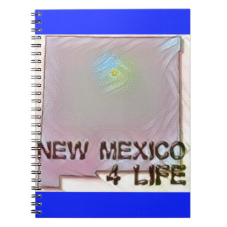 """New Mexico 4 Life"" State Map Pride Design Notebooks"