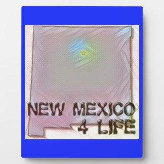 """New Mexico 4 Life"" State Map Pride Design Plaque"
