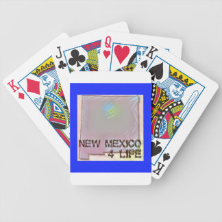 """New Mexico 4 Life"" State Map Pride Design Poker Deck"