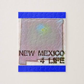 """New Mexico 4 Life"" State Map Pride Design Puzzles"