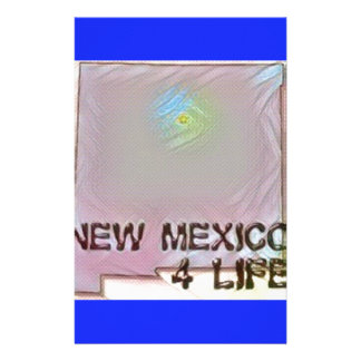 """New Mexico 4 Life"" State Map Pride Design Stationery"