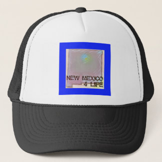 """""""New Mexico 4 Life"""" State Map Pride Design Trucker Hat"""