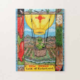 New Mexico Alien Balloon Vacation Jigsaw Puzzle