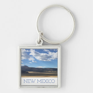 New Mexico Bright Blue Sky & Mountains Keychain