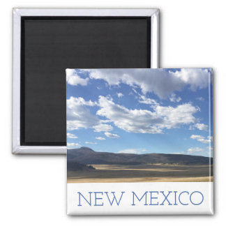 New Mexico Bright Blue Sky Over Mountains Magnet
