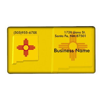 New Mexico Business Label Shipping Label