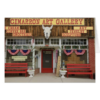 New Mexico, Cimarron. Cimarron art gallery, New Card