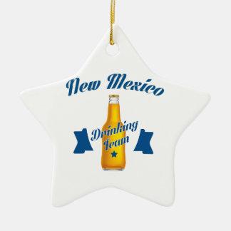 New Mexico Drinking team Ceramic Star Decoration