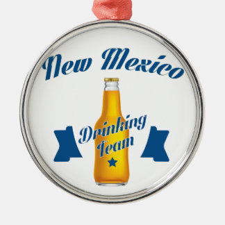 New Mexico Drinking team Silver-Colored Round Decoration