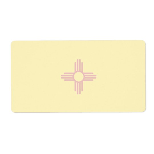 New Mexico Faint Flag Shipping Label
