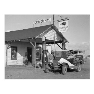 New Mexico Filling Station, 1936 Postcard
