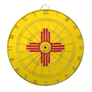 New Mexico Flag Dartboard