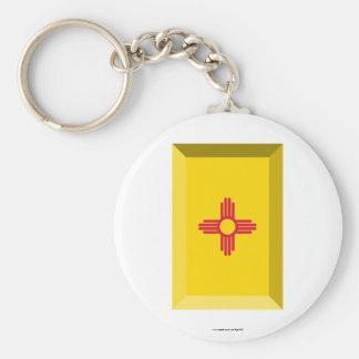 New Mexico  Flag Gem Key Chains