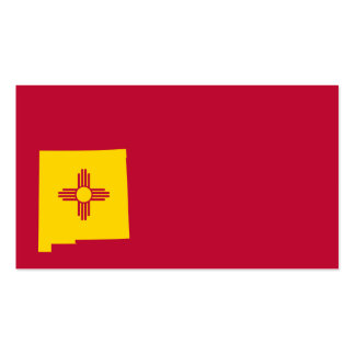 New Mexico Flag Map Shape Pack Of Standard Business Cards