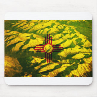 New Mexico Flag Mountains Mouse Pad