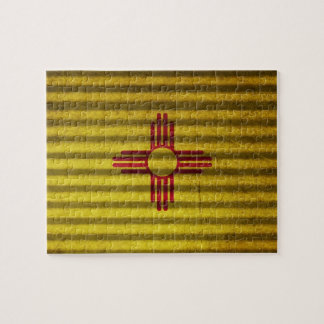 New Mexico Flag old tin roof Puzzle