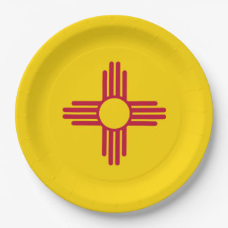 New Mexico Flag Paper Plate