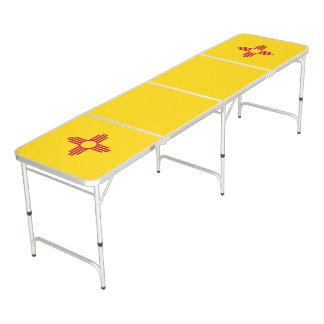 New Mexico Flag Pong Table