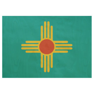 New Mexico Flag Poster (License Plate Colors)