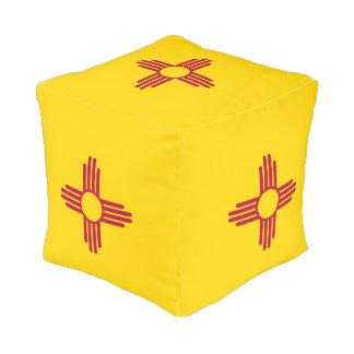 New Mexico Flag Pouf