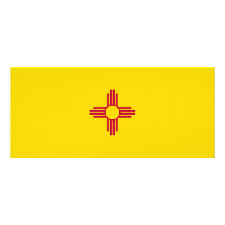 New Mexico Flag Rack Card