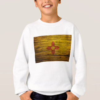 New Mexico flag rustic wood Sweatshirt