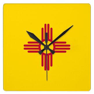 New Mexico Flag Square Wall Clock