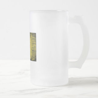 New Mexico Frosted Glass Beer Mug