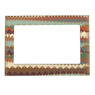 New Mexico Green and Brown ZigZag Camouflage Magnetic Frame