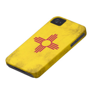New Mexico Grunge- Zia Sun Symbol iPhone 4 Cover