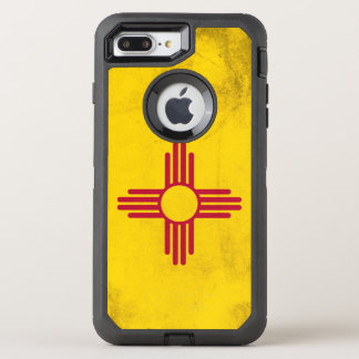 New Mexico Grunge- Zia Sun Symbol OtterBox Defender iPhone 8 Plus/7 Plus Case