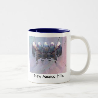 New Mexico Hills Two-Tone Coffee Mug