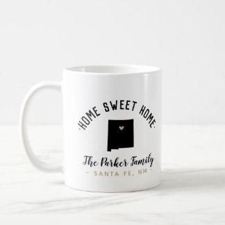 New Mexico Home Sweet Home Family Monogram Mug