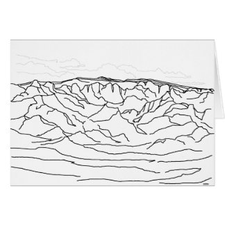 New Mexico Landscape of Sandia Mountains Card