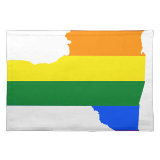 New Mexico LGBT Flag Map Placemat