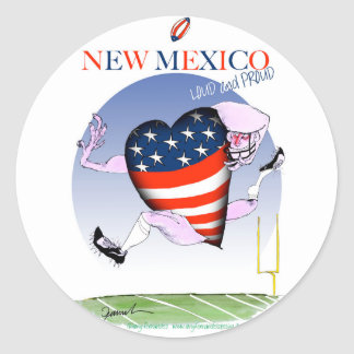 new mexico loud and proud, tony fernandes round sticker