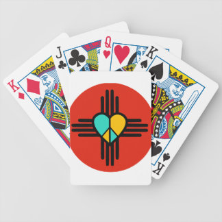 New Mexico, Love, Peace Bicycle Playing Cards