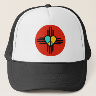 New Mexico, Love, Peace Trucker Hat