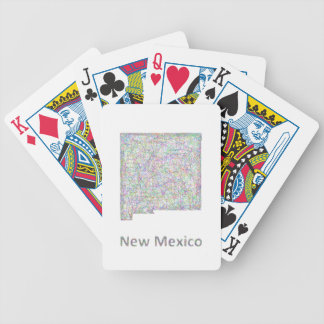 New Mexico map Poker Deck