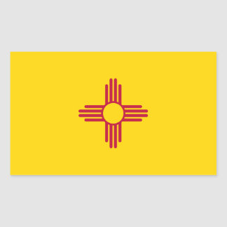 New Mexico/Mexican State Flag (Zia), United States Rectangular Sticker