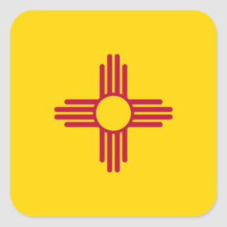 New Mexico/Mexican State Flag (Zia), United States Square Sticker