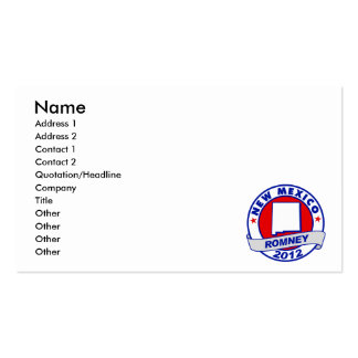 New Mexico Mitt Romney Pack Of Standard Business Cards