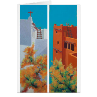 """New Mexico Morning"" and ""Pueblo Fall"" Card"