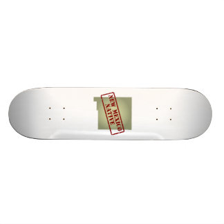 New Mexico Native Stamped on Map Skate Board Decks