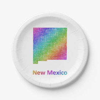 New Mexico Paper Plate